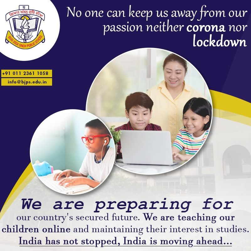 We are teaching our children online.